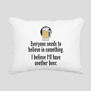 Beer Believe - Rectangular Canvas Pillow