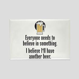 Beer Believe - Rectangle Magnet
