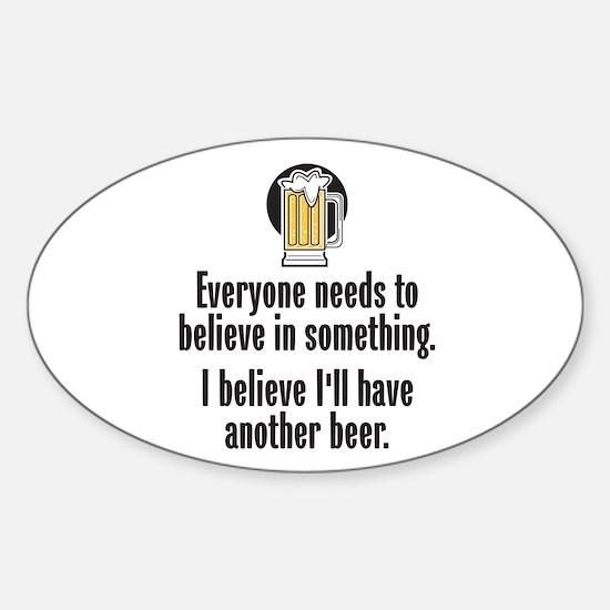 Beer Believe - Sticker (Oval)