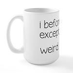Weird Spelling Rule I Before E Large Mug