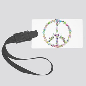 Peace of Flowers Large Luggage Tag