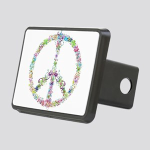 Peace of Flowers Rectangular Hitch Cover