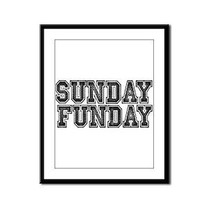 Sunday Funday Framed Panel Print