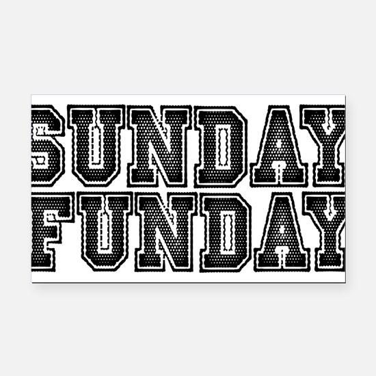 Sunday Funday Rectangle Car Magnet