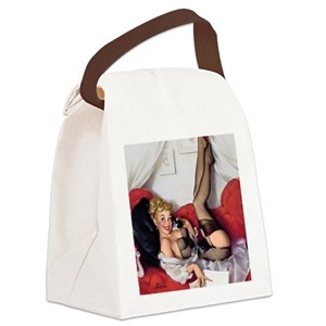 4bc18a9a2dc9 Vintage Pinup Girl Canvas Lunch Bags - CafePress
