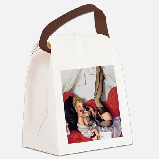Classic Pin Ups Canvas Lunch Bag
