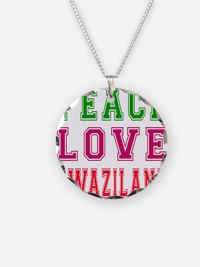 Peace Love Swaziland Necklace