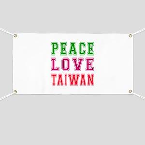 Peace Love Taiwan Banner