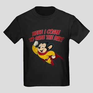 Here I Come to Save the Day Kids Dark T-Shirt