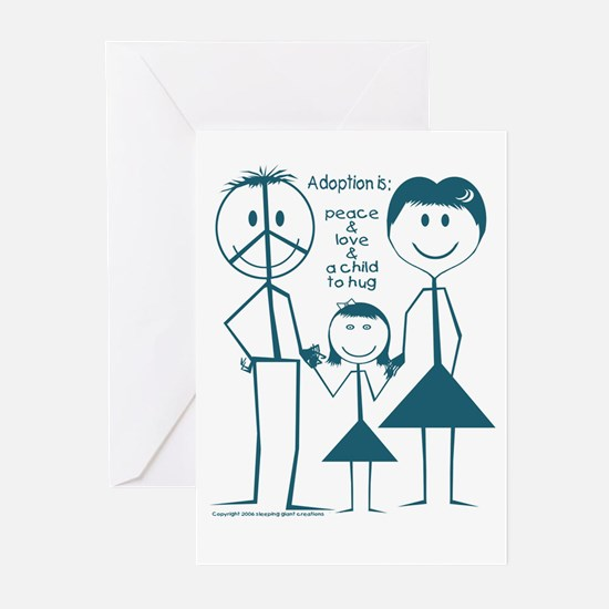 Adoption is... girl Greeting Cards (Pk of 10)