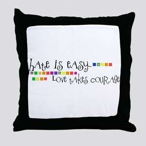 Hate is Easy... Throw Pillow