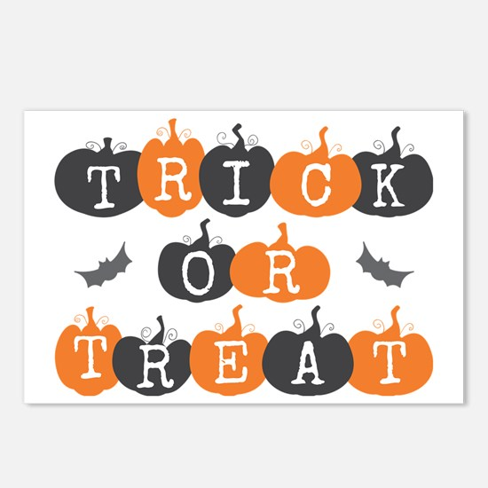 Trick Or Treat Pumpkin an Postcards (Package of 8)