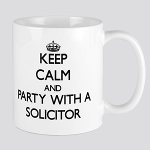 Keep Calm and Party With a Solicitor Mugs