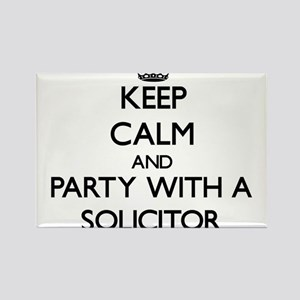 Keep Calm and Party With a Solicitor Magnets