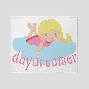 Daydreamer Girl Throw Blanket