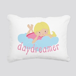 Daydreamer Girl Rectangular Canvas Pillow