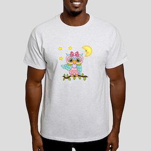 Not Me Girl Owl Light T-Shirt