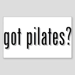 got pilates? Rectangle Sticker