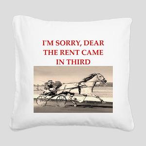 1RACE2 Square Canvas Pillow