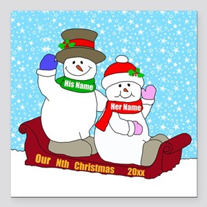 """Our Nth Christmas Square Car Magnet 3"""" x 3"""""""