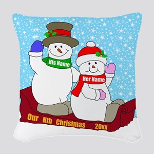 Our Nth Christmas Woven Throw Pillow