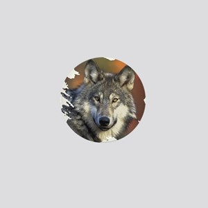 Gray Wolf Mini Button