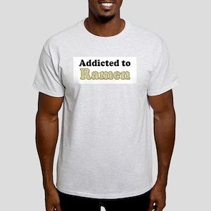 Addicted to Ramen Ash Grey T-Shirt