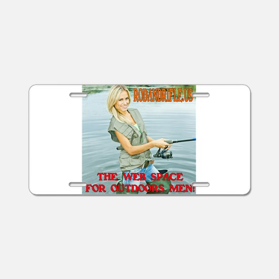 RodandRifle.US Lady Fishing Aluminum License Plate