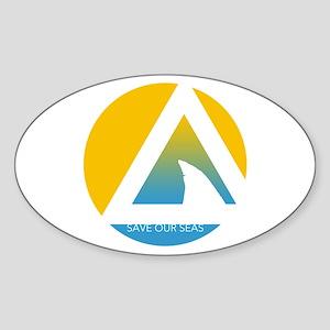 Save Our Seas Shark Triangle Sticker