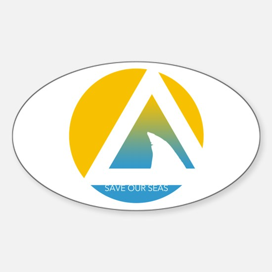 Save Our Seas Shark Triangle Decal
