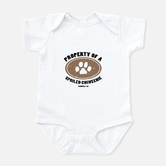 Chiweenie dog Infant Bodysuit