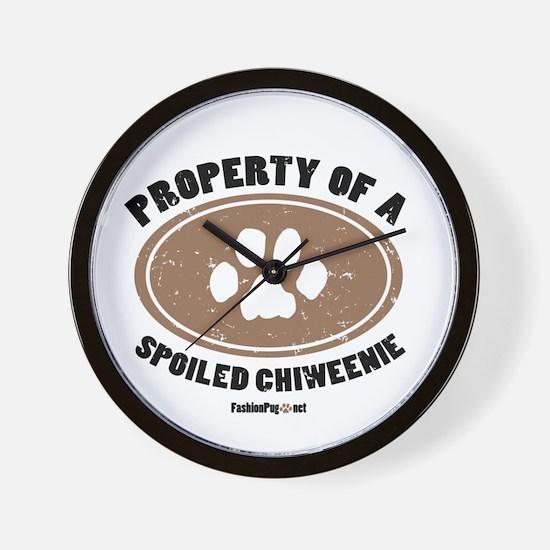 Chiweenie dog Wall Clock