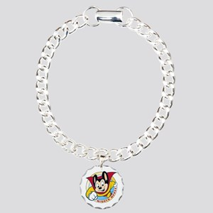Mighty Mouse Charm Bracelet, One Charm