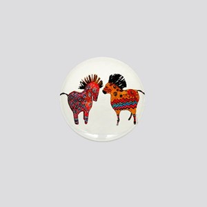 Colorful Totem Ponies Mini Button