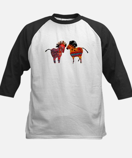 Colorful Totem Ponies Baseball Jersey