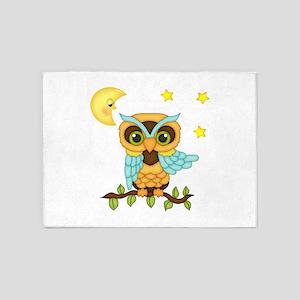 No Me Boy Owl 5'x7'Area Rug