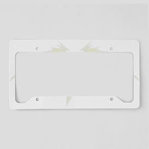 White Pumpkin Wings License Plate Holder