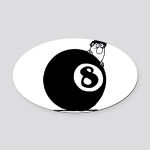 Eight Ball Oval Car Magnet