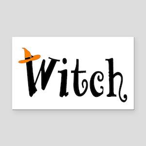 Witch (Orange Hat) Rectangle Car Magnet