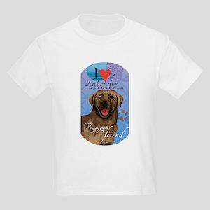 Chocolate Lab Kids Light T-Shirt