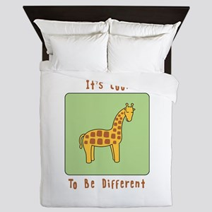 Its Cool to be Different Queen Duvet