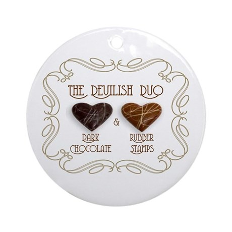 Sweet Sanity Duo Ornament (Round)