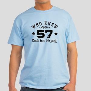 Funny 57th Birthday Light T-Shirt