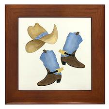 Cowboy - Western Framed Tile