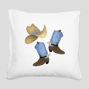 Cowboy - Western Square Canvas Pillow