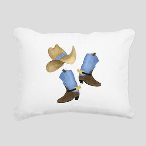 Cowboy - Western Rectangular Canvas Pillow