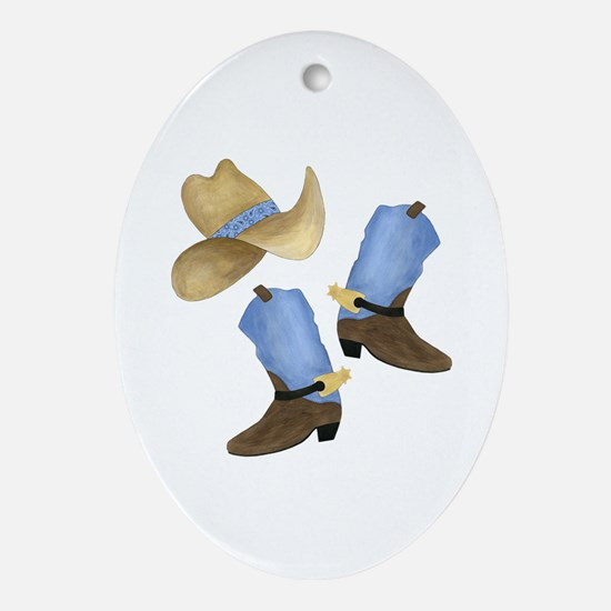 Cowboy - Western Ornament (Oval)