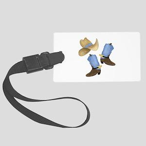 Cowboy - Western Large Luggage Tag
