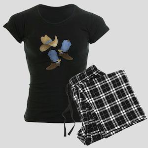 Cowboy - Western Women's Dark Pajamas