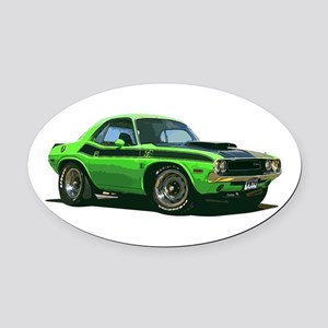 BabyAmericanMuscleCar_70CHLGR_green Oval Car Magne